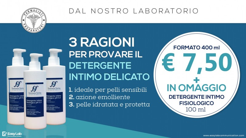 DETERGENTE INTIMO FISIOLOGICO PH 5.5 IN OFFERTA A €7,50